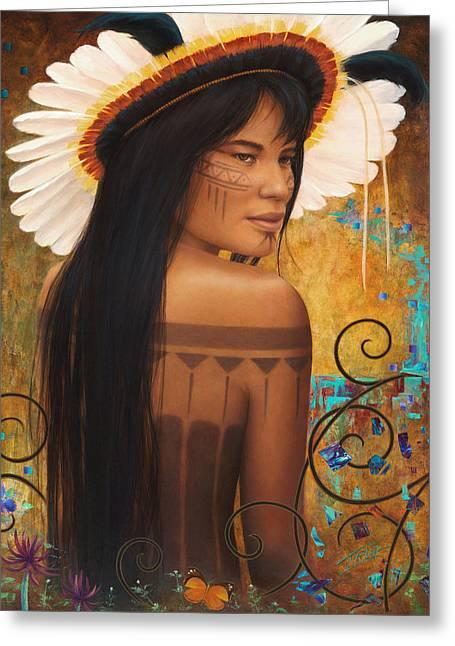 Save Xingu Greeting Card by Sharon Irla