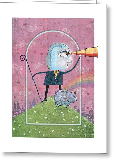 Saving For The Future Greeting Card by Dennis Wunsch