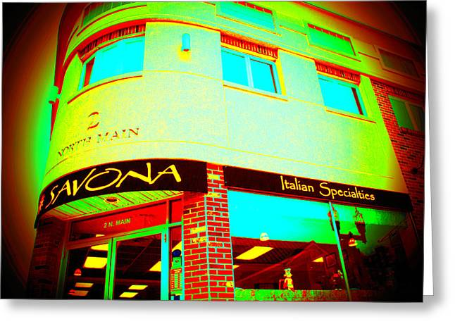 Savona Fine Italian Food And Wine 6 Greeting Card