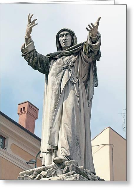 Savonarola Greeting Card by Dirk Wiersma