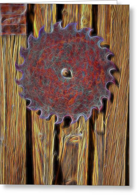 Saw Blade Greeting Card by Kelley King