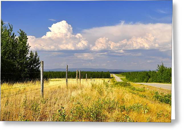 Greeting Card featuring the photograph Sawmill Creek Road by Cathy Mahnke