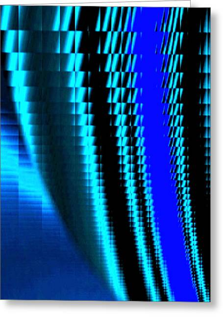Sawtooth Abstract 3 Greeting Card by Will Borden