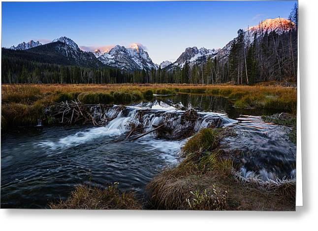 Sawtooth Cold Morning In Stanley Idaho Greeting Card by Vishwanath Bhat