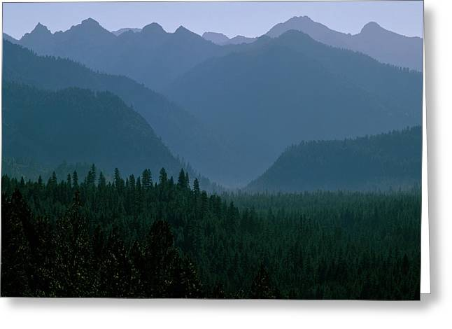 Sawtooth Mountains Silhouette Greeting Card by Ed  Riche