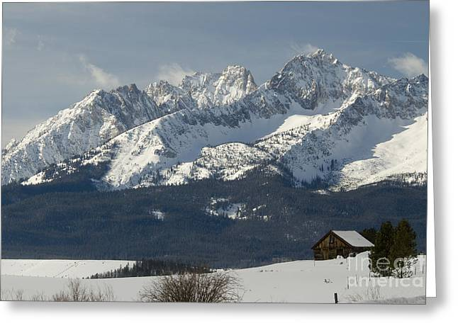 Sawtooth Mountains Greeting Card