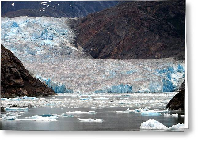 Greeting Card featuring the photograph Sawyer Glacier by Jennifer Wheatley Wolf