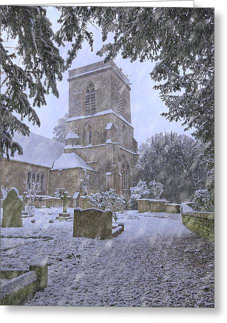 Saxon Church In Winter Greeting Card