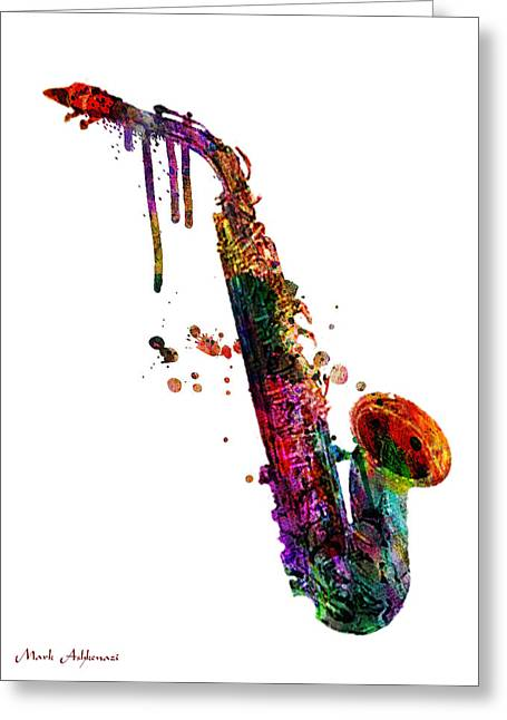 Saxophone 2 Greeting Card