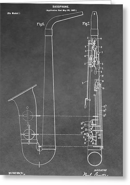 Saxophone Patent Greeting Card