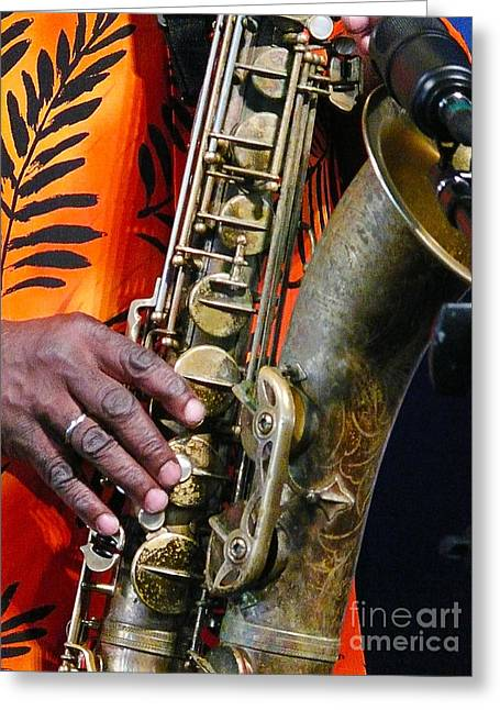 Saxy Greeting Card