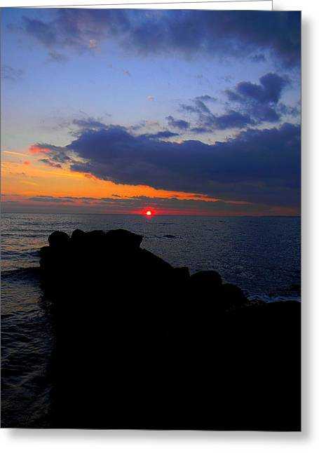 Saybrook Sunset Greeting Card by Andrea Galiffi