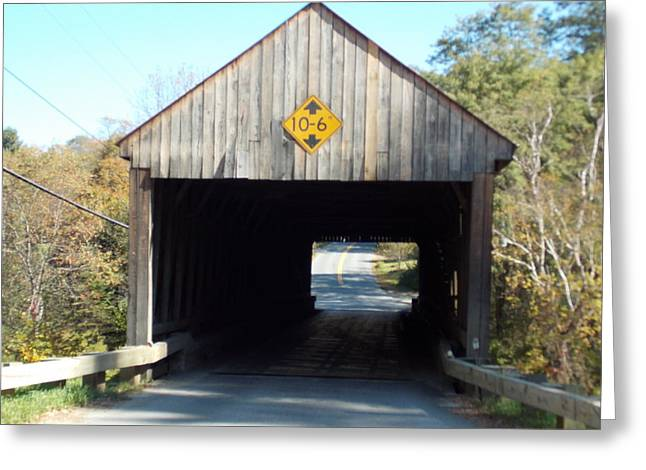 Sayres Covered Bridge Greeting Card by Catherine Gagne