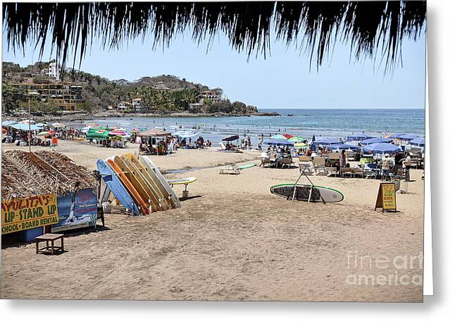 Sayulita Mexico Greeting Card by Amy Fearn