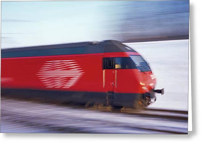 Sbb Train Switzerland Greeting Card