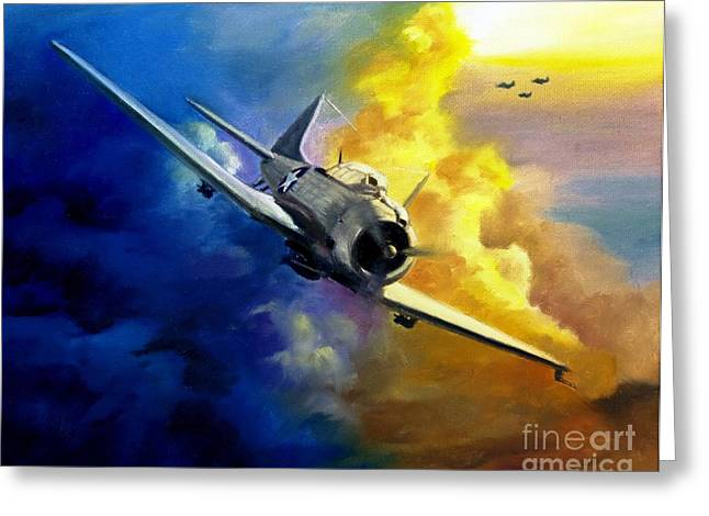 Sbd Dauntless Greeting Card by Stephen Roberson
