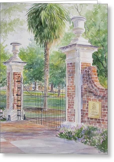 South Carolina. Horseshoe Sold Greeting Card