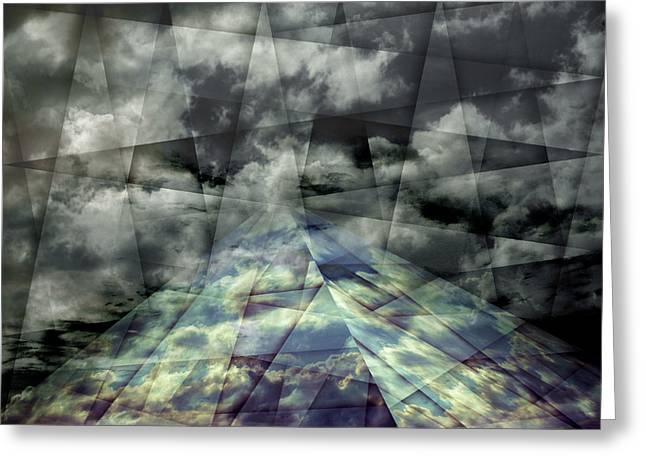 Scaffold Of Time Greeting Card by Florin Birjoveanu
