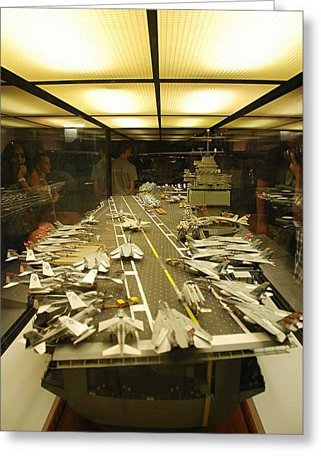 Scale Model Aircraft Carrier Greeting Card