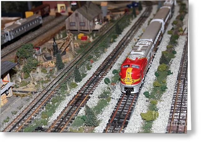 Scale Model Trains 5d21810 Greeting Card by Wingsdomain Art and Photography