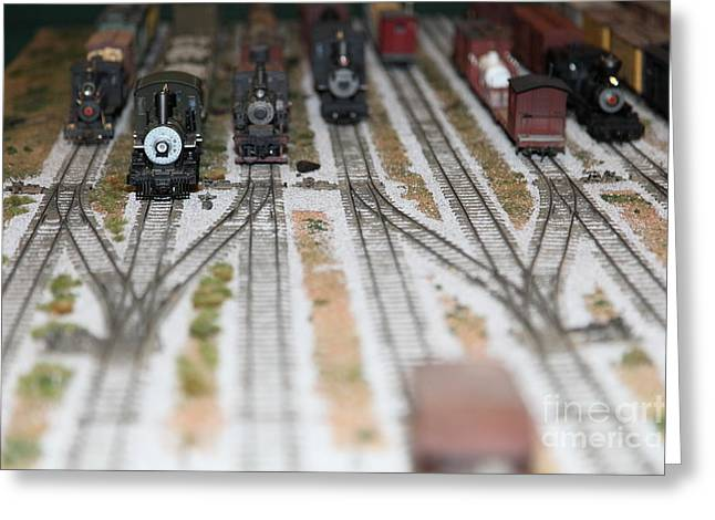 Scale Model Trains 5d21820 Greeting Card by Wingsdomain Art and Photography