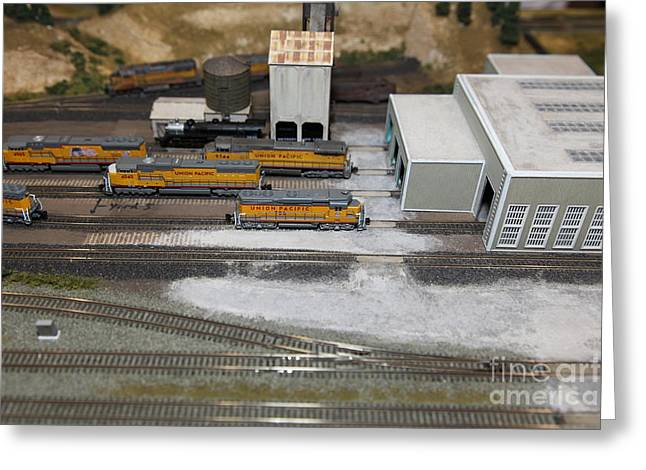Scale Model Trains 5d21850 Greeting Card by Wingsdomain Art and Photography