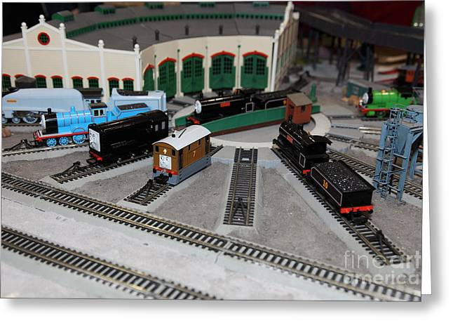 Scale Model Trains 5d21873 Greeting Card by Wingsdomain Art and Photography
