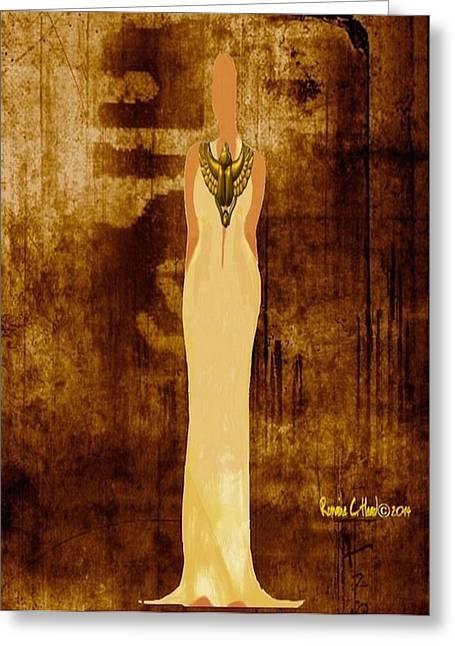 Scarab Sista Goddess Greeting Card by Romaine Head