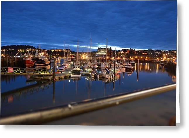 Scarborough Bay Greeting Card by Dave Woodbridge