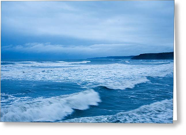 Greeting Card featuring the photograph Scarborough Blues by Ian Middleton