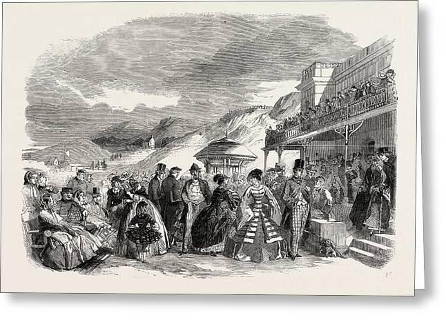 Scarborough Spa, 1858 Greeting Card