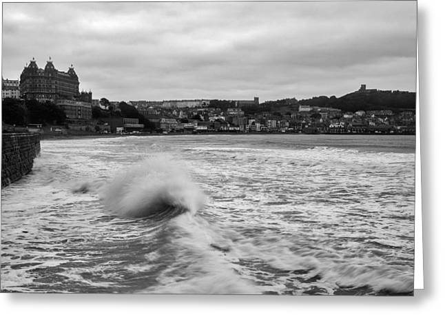 Greeting Card featuring the photograph Scarborough Waves by Ian Middleton