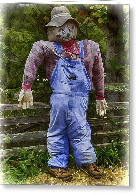 Scarecrow Greeting Card by John Haldane