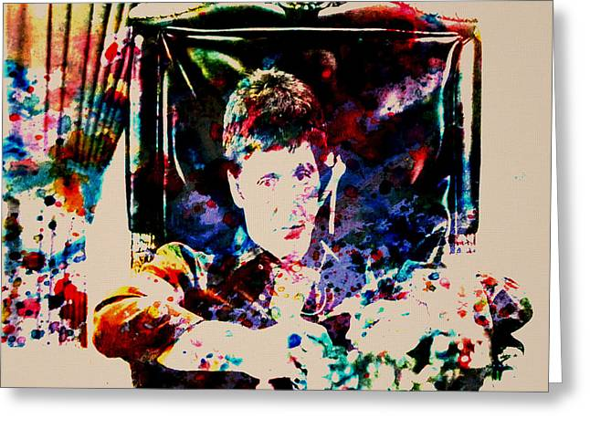 Scarface Paint Drops Greeting Card by Brian Reaves