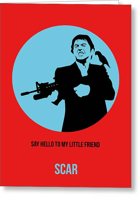 Scarface Poster 1 Greeting Card by Naxart Studio