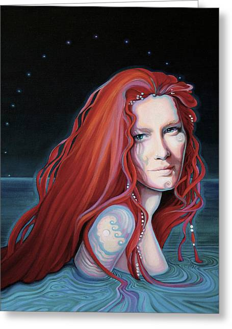 Scarlet Lake-merissa Waits Greeting Card
