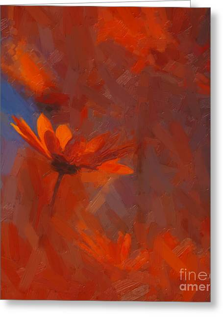 Scarlet Petals  Greeting Card