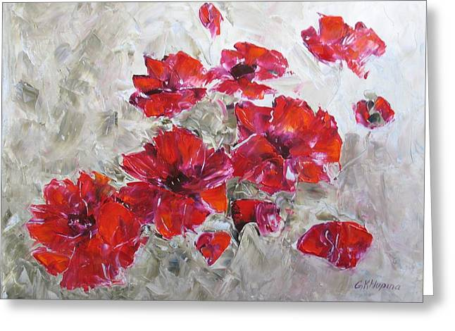 Scarlet Poppies Greeting Card