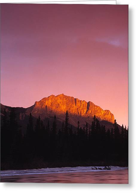 Scarlet Yamnuska And Bow River Greeting Card by Richard Berry