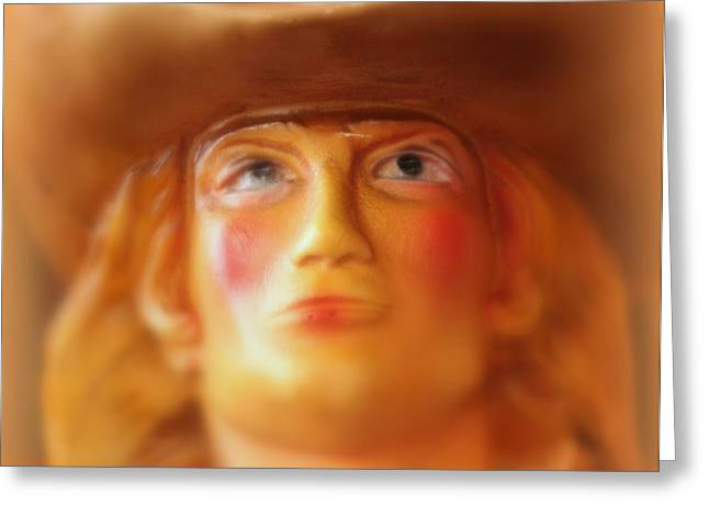 Scary Cowgirl Greeting Card by Lynn Sprowl