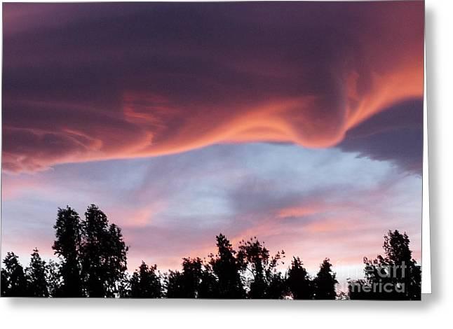Scary Desert Sky Greeting Card by Deborah Smolinske