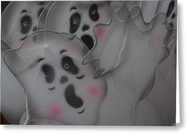 Scary Ghosts Greeting Card