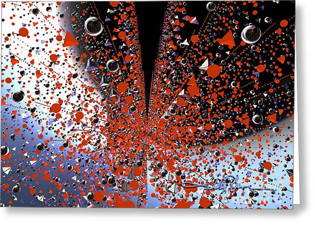 Scatter Burst One Greeting Card