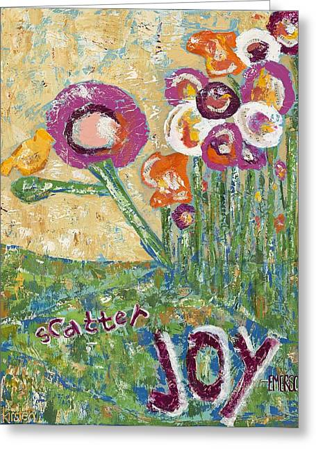 Scatter Joy Greeting Card by Kirsten Reed