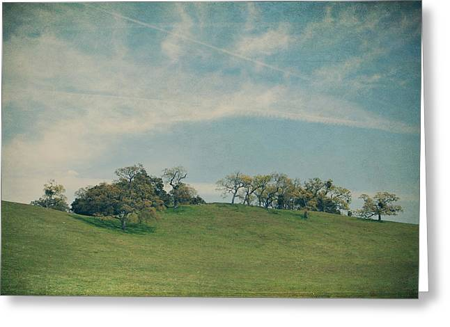 Scattered Along The Hilltop Greeting Card by Laurie Search