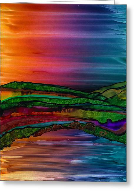 Scattering Waves Greeting Card