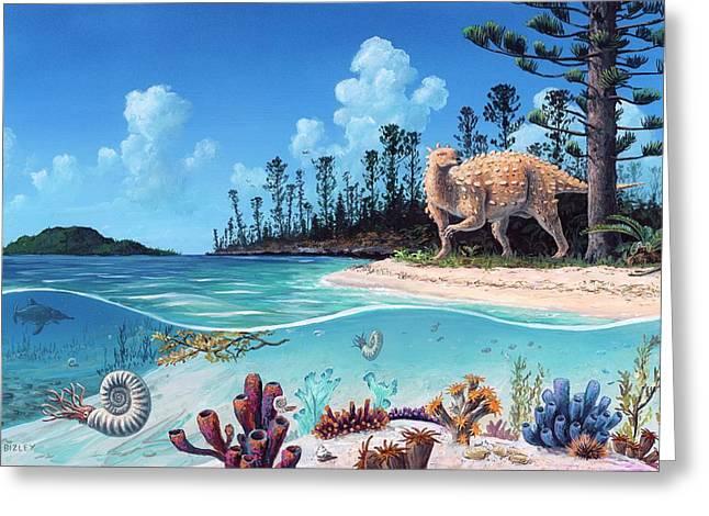Scelidosaurus Dinosaur Greeting Card