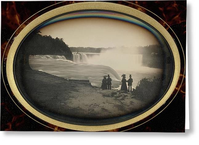 Scene At Niagara Falls Platt D. Babbitt Greeting Card