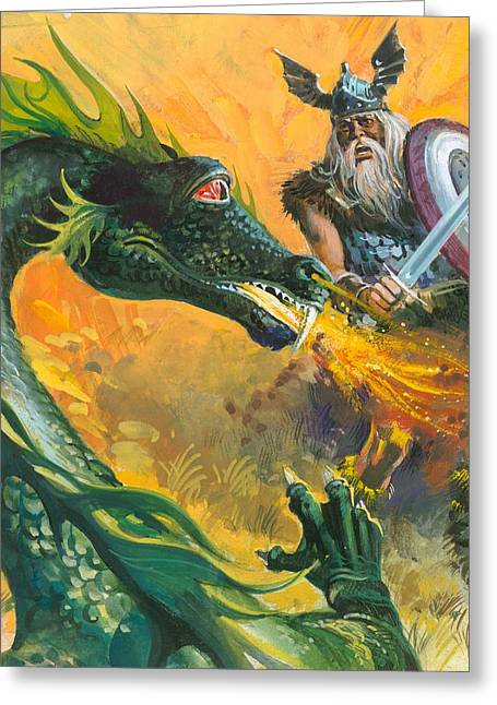 Scene From Beowulf Greeting Card