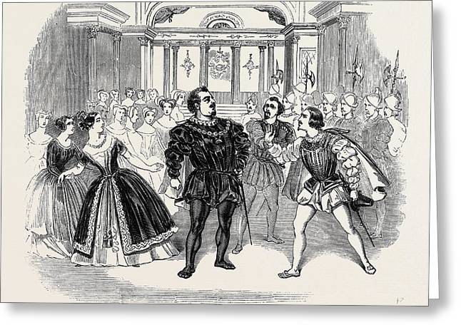 Scene From Costas Opera Of Don Carlos Greeting Card
